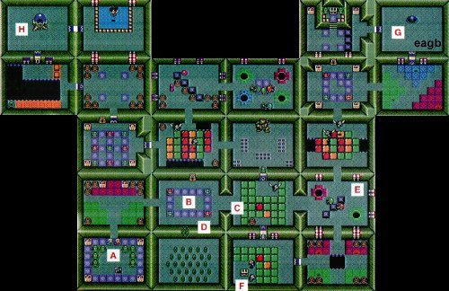 Zelda DX Secret Dungeon Map